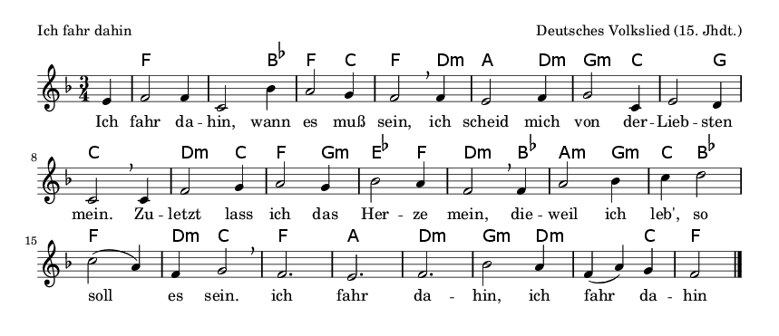 Ich fahr dahin - please update page (F5 key), if notes are not visible