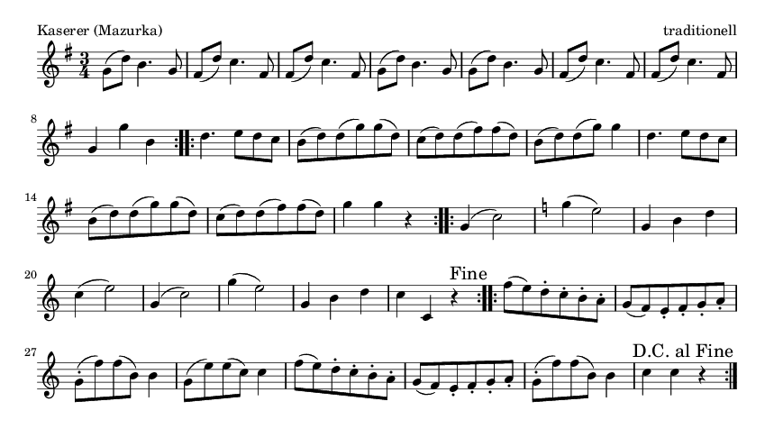 Kaserer (Mazurka) - please update page (F5 key), if notes are not visible