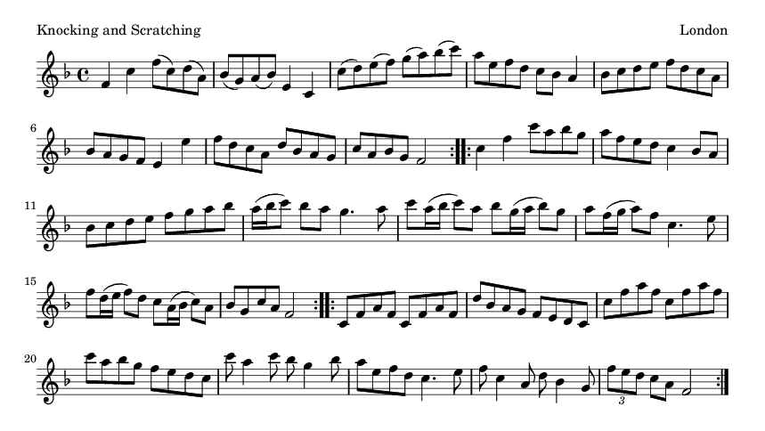 Knocking and Scratching - please update page (F5 key), if notes are not visible