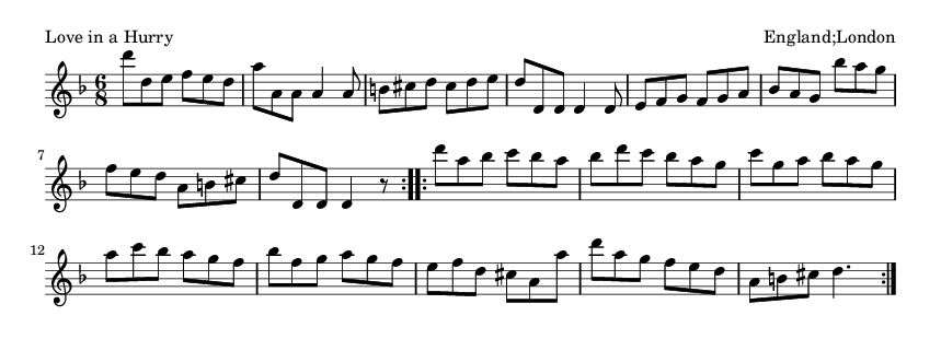 Love in a Hurry - please update page (F5 key), if notes are not visible