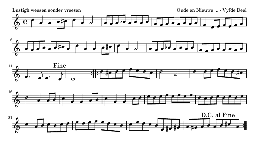 Lustigh weesen sonder vreesen - please update page (F5 key), if notes are not visible