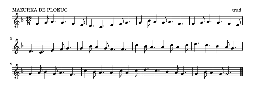 MAZURKA DE PLOEUC - please update page (F5 key), if notes are not visible