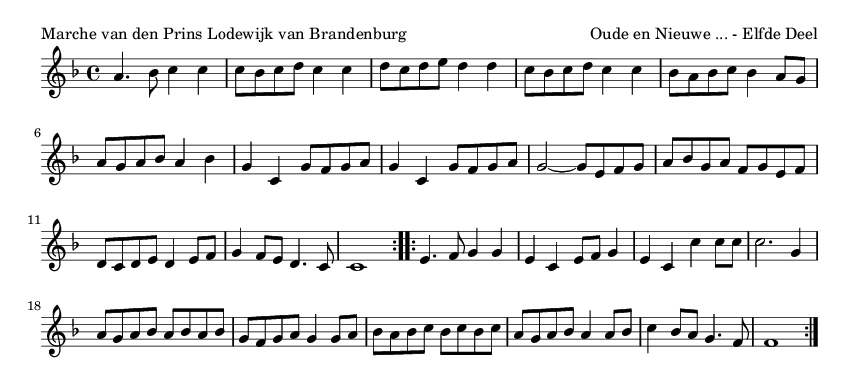 Marche van den Prins Lodewijk van Brandenburg - please update page (F5 key), if notes are not visible