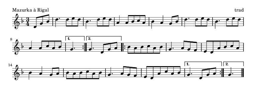 Mazurka à Rigal - please update page (F5 key), if notes are not visible