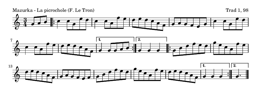 Mazurka - La picrochole (F. Le Tron) - please update page (F5 key), if notes are not visible