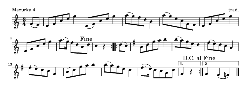 Mazurka 4 - please update page (F5 key), if notes are not visible