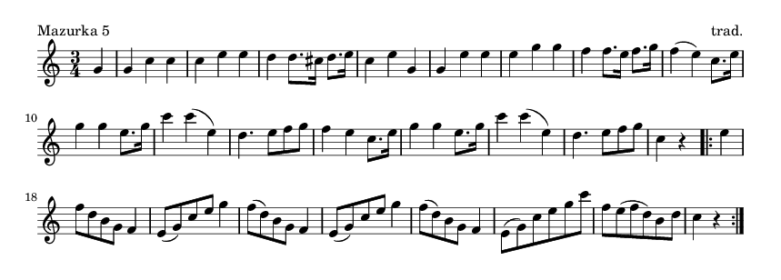 Mazurka 5 - please update page (F5 key), if notes are not visible