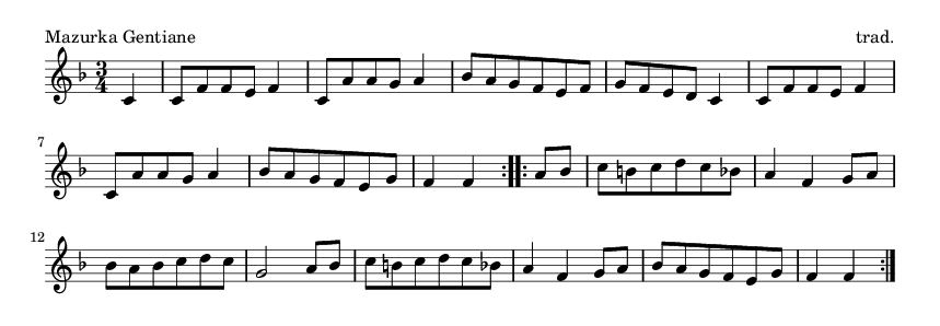 Mazurka Gentiane - please update page (F5 key), if notes are not visible