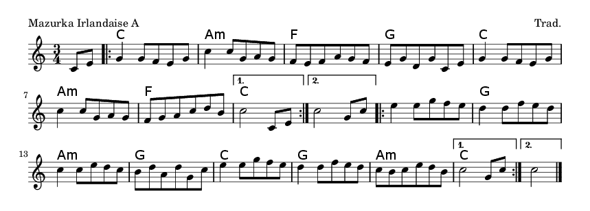 Mazurka Irlandaise A - please update page (F5 key), if notes are not visible