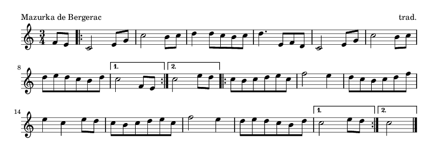 Mazurka de Bergerac - please update page (F5 key), if notes are not visible