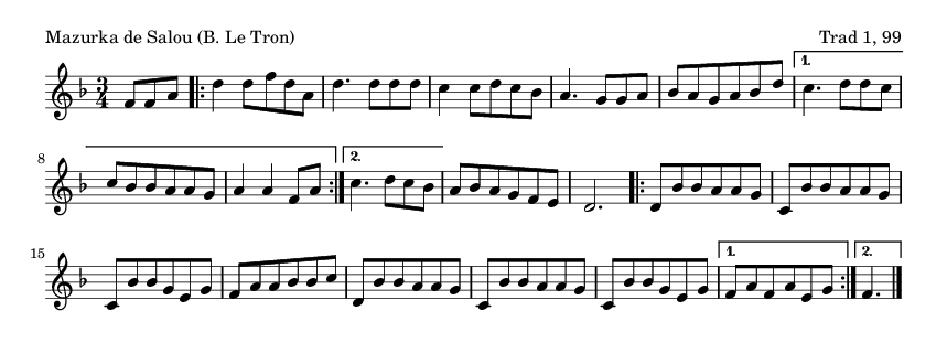 Mazurka de Salou (B. Le Tron) - please update page (F5 key), if notes are not visible