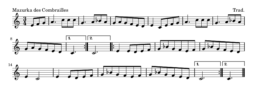 Mazurka des Combrailles - please update page (F5 key), if notes are not visible