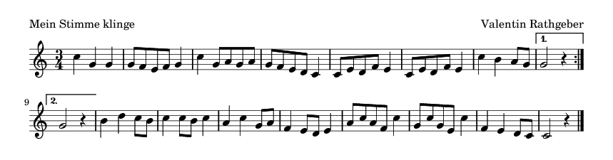 Mein Stimme klinge - please update page (F5 key), if notes are not visible
