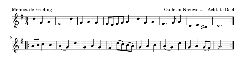 Menuet de Frieling - please update page (F5 key), if notes are not visible
