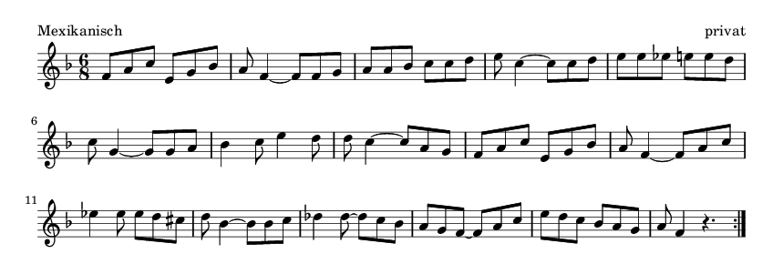 Mexikanisch - please update page (F5 key), if notes are not visible