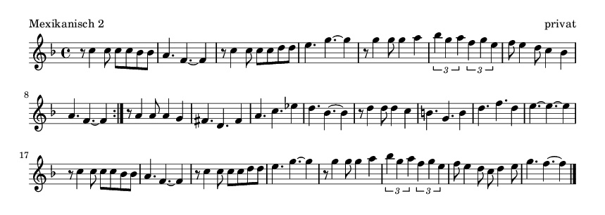 Mexikanisch 2 - please update page (F5 key), if notes are not visible