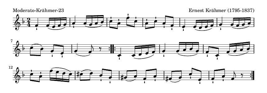 Moderato-Krähmer-23 - please update page (F5 key), if notes are not visible