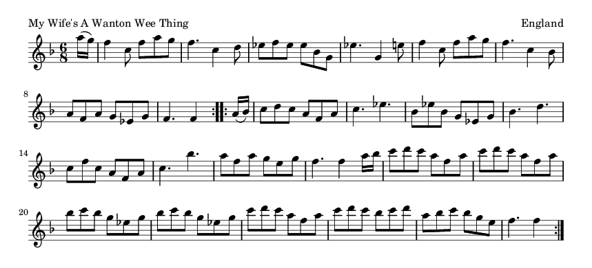 My Wife's A Wanton Wee Thing - please update page (F5 key), if notes are not visible