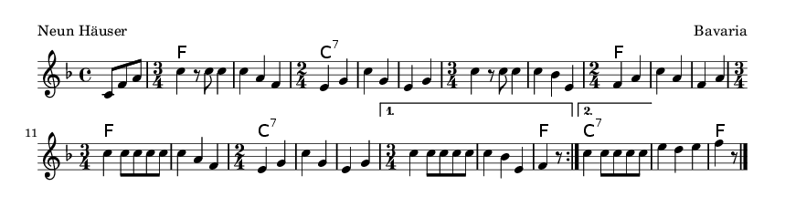 Neun Häuser - please update page (F5 key), if notes are not visible