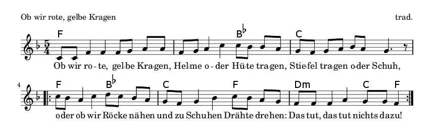 Ob wir rote, gelbe Kragen - please update page (F5 key), if notes are not visible