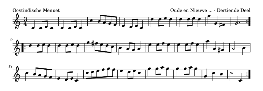 Oostindische Menuet - please update page (F5 key), if notes are not visible