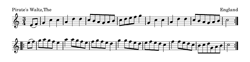 Pirate's Waltz,The - please update page (F5 key), if notes are not visible