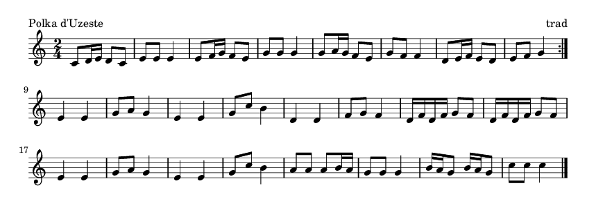 Polka d'Uzeste - please update page (F5 key), if notes are not visible
