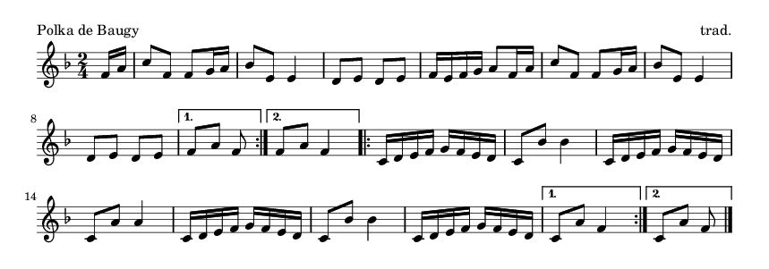 Polka de Baugy - please update page (F5 key), if notes are not visible