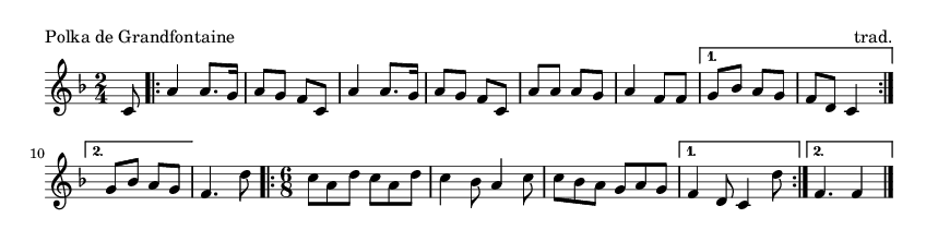 Polka de Grandfontaine - please update page (F5 key), if notes are not visible