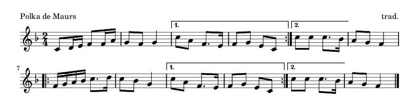 Polka de Maurs - please update page (F5 key), if notes are not visible