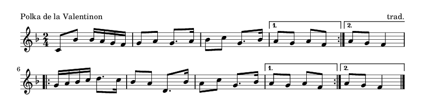 Polka de la Valentinon - please update page (F5 key), if notes are not visible
