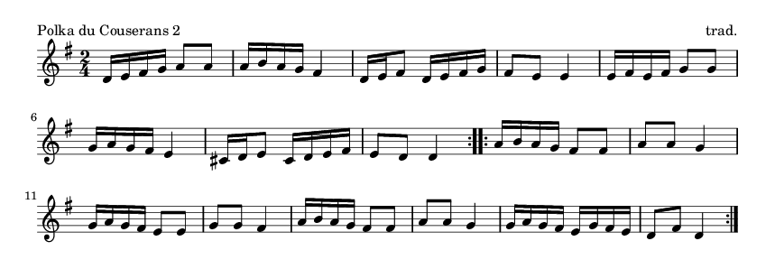 Polka du Couserans 2 - please update page (F5 key), if notes are not visible