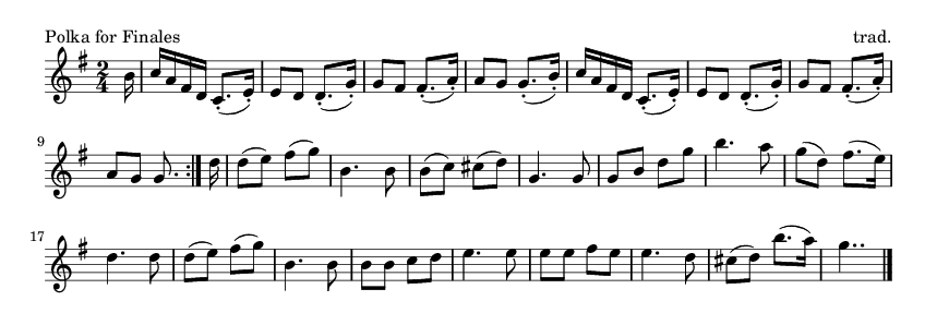 Polka for Finales - please update page (F5 key), if notes are not visible