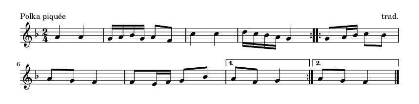 Polka piquée - please update page (F5 key), if notes are not visible