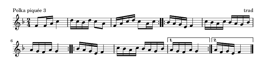 Polka piquée 3 - please update page (F5 key), if notes are not visible