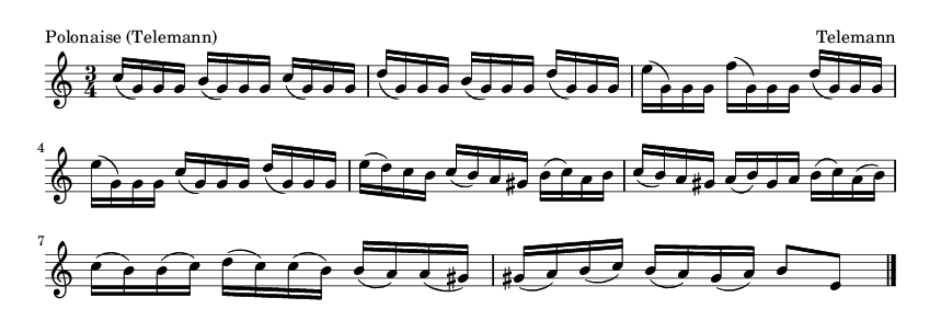 Polonaise (Telemann) - please update page (F5 key), if notes are not visible