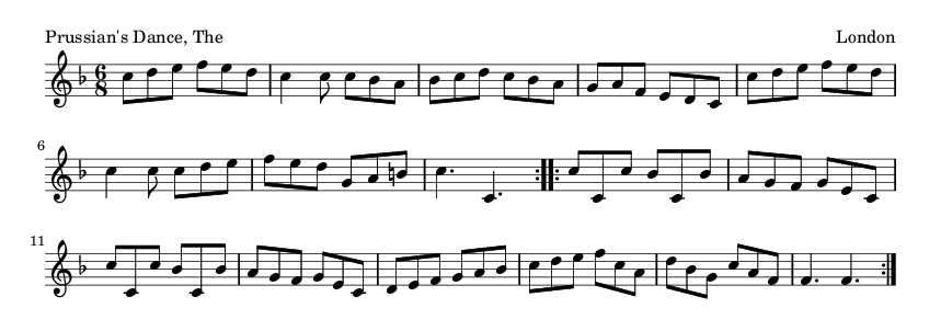 Prussian's Dance, The - please update page (F5 key), if notes are not visible