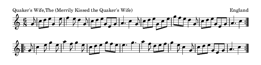 Quaker's Wife,The (Merrily Kissed the Quaker's Wife) - please update page (F5 key), if notes are not visible