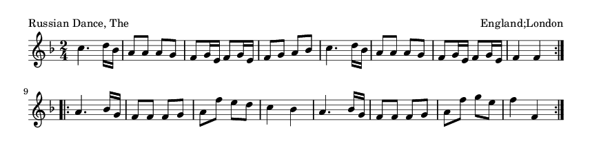 Russian Dance, The - please update page (F5 key), if notes are not visible