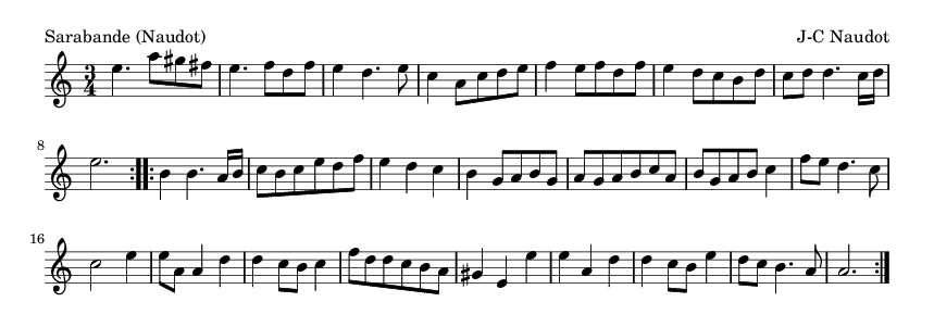 Sarabande (Naudot) - please update page (F5 key), if notes are not visible