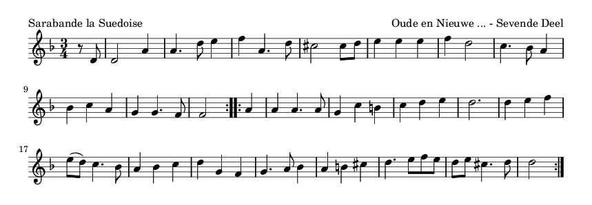 Sarabande la Suedoise - please update page (F5 key), if notes are not visible