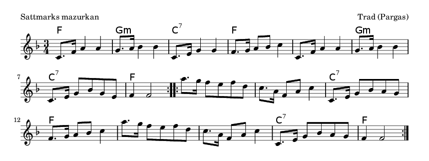 Sattmarks mazurkan - please update page (F5 key), if notes are not visible