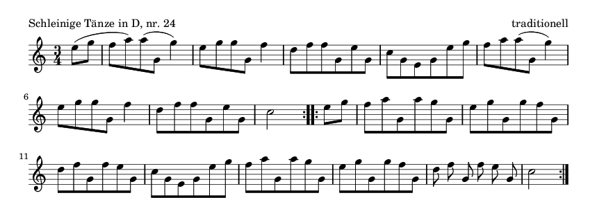Schleinige Tänze in D, nr.  24 - please update page (F5 key), if notes are not visible