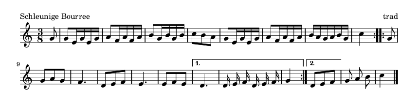 Schleunige Bourree - please update page (F5 key), if notes are not visible
