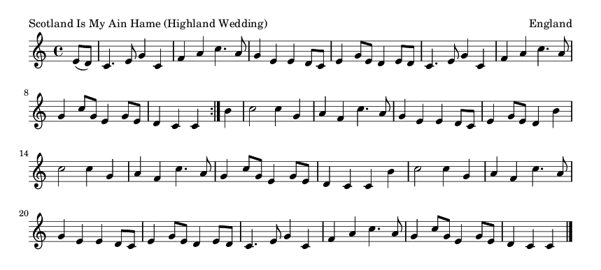 Scotland Is My Ain Hame (Highland Wedding) - please update page (F5 key), if notes are not visible