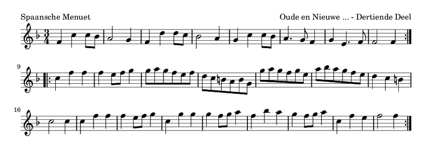 Spaansche Menuet - please update page (F5 key), if notes are not visible