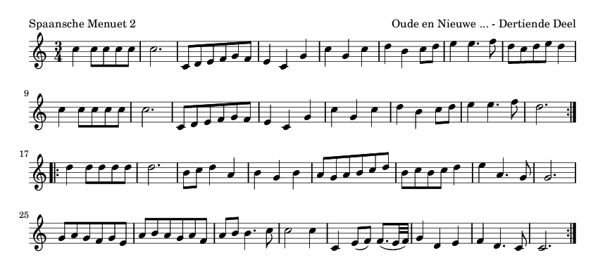 Spaansche Menuet 2 - please update page (F5 key), if notes are not visible
