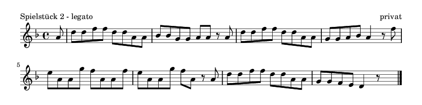 Spielstück 2 - legato - please update page (F5 key), if notes are not visible