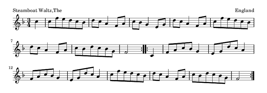 Steamboat Waltz,The - please update page (F5 key), if notes are not visible