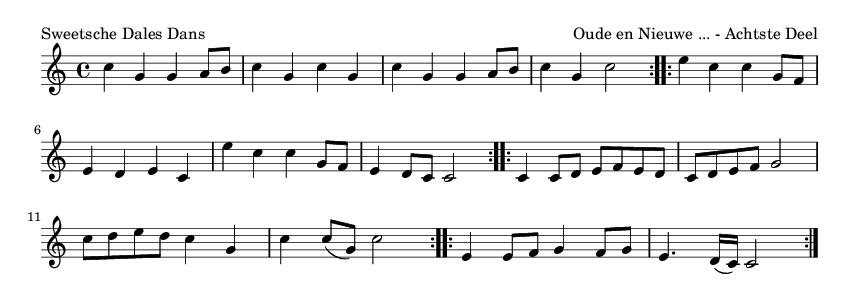 Sweetsche Dales Dans - please update page (F5 key), if notes are not visible